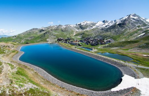 Lac 2 - lake reservoir for snow making at Val Thorens. What is new for Val Thorens for 2019/20.