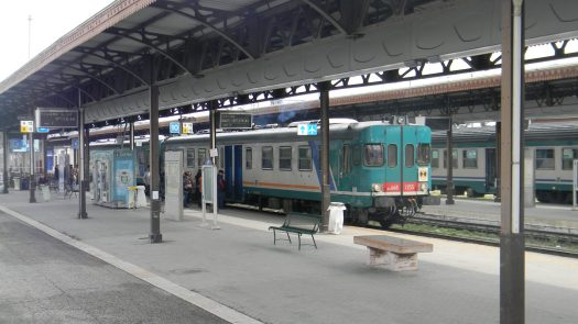 An Italian traain in Verona Porta Nova Train Station. A Dolomites train project could be ready for the 2026 Olympics.