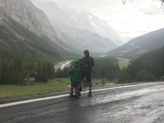 The weather changed quickly and we managed to get soaked! Val Veny. Photo: The-Ski-Guru. Our summer in the mountains – one week in Courmayeur.