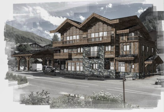 Render of the Val d'Isère apartments. How to buy a home in the mountains.