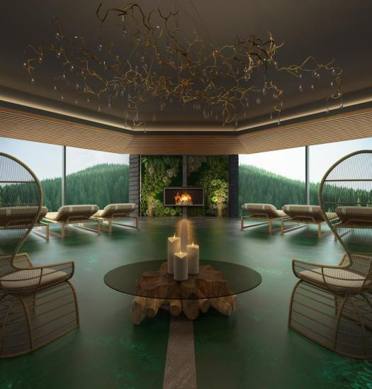 Lefay Resort & Spa Dolomiti- spa photo. Pinzolo/Madonna di Campiglio has opened its first 5 stars luxury hotel- Lefay Resort & Spa Dolomiti.