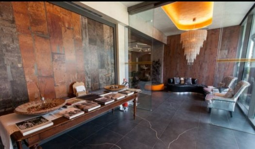 The lobby at the Design Hotel Oberossler in Madonna di Campiglio. The Ski Area Campiglio Dolomiti di Brenta is opening its 2019/20 ski season. News of the resort.
