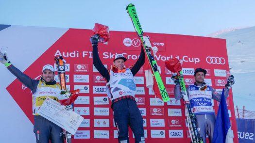 World Cup Ski Cross podium from last year. Photo: C. Ducruet. OT Val Thorens. Val Thorens hosts the first stage of the World Cup Ski Cross.