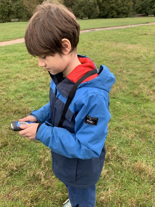 My son reading his transceiver. Now he wants to do an Easter Egg Hunt with transceivers.... a good idea to practise! Henry's Avalanche Talk. If thinking in going off-piste this season, you MUST be safe aware.