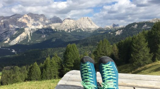 A rest during a hike in Alta Badia to admire the views. Photo: The-Ski-Guru. A Must-Read Guide to Summer in South Tyrol.