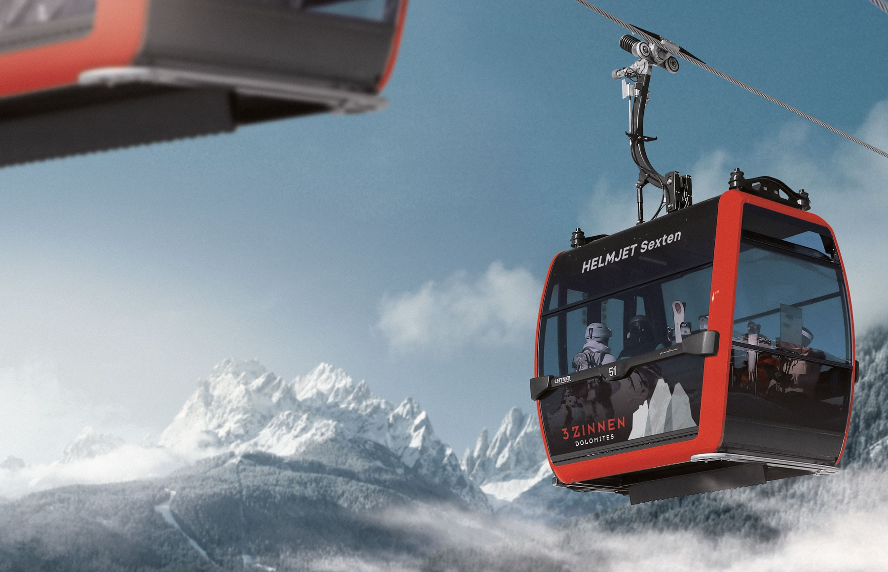 Helmjet Sexten. Drei Zinnen will continue with its plan to install the Helmjet Sexten 10-seater cable car.