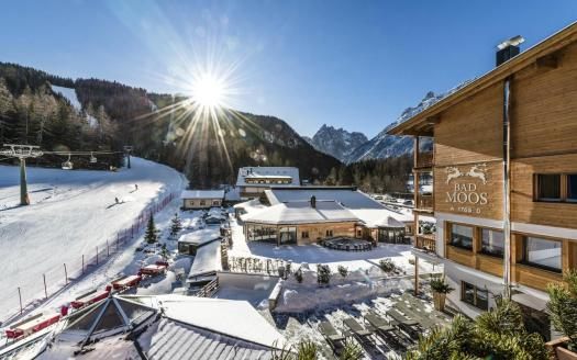 Exterior of the Bad Moss Resort in Sesto. Drei Zinnen will continue with its plan to install the Helmjet Sexten 10-seater cable car.