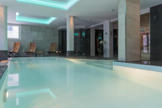 The pool at the Grand Hôtel des Alpes. Book your stay at the Grand Hôtel des Alpes here.