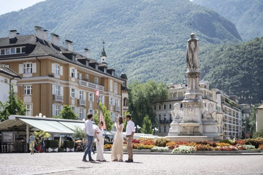 Bolzano downtown, a bit Mediterranean and a bit North European, all blended. Photo: IDM South Tyrol / Alex Filz. A Must-Read Guide to Summer in South Tyrol.