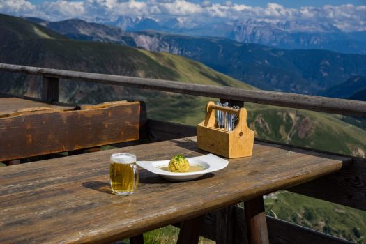 A table at the Rifugio Kuhleiten. A Must-Read Guide to Summer in South Tyrol.