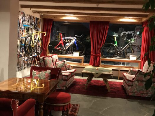 The Pinarello room at La Perla Hotel. Book your stay at the Hotel La Perla here. Planning your summer in the mountains of Alta Badia.