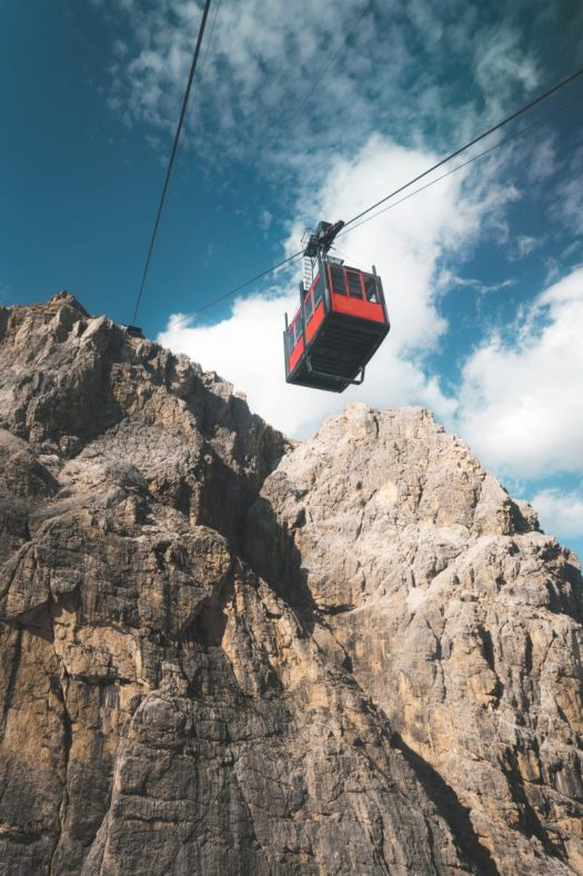 The Lagazuoi cable car. Photo: Nicolò Rinaldi- @nclrnld. Cortina Marketing. Cortina d'Ampezzo is ready for a new summer season.