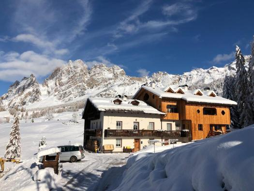 Exterior of Ciasa Coletin. Book your stay at Ciasa Coletin here. Cortina Dolomiti Ultra Trekking.