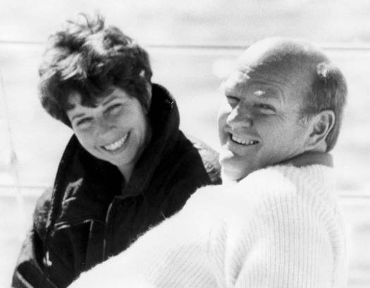 Warren Miller and his third wife. Ski Bum- The Warren Miller Story- A Review.