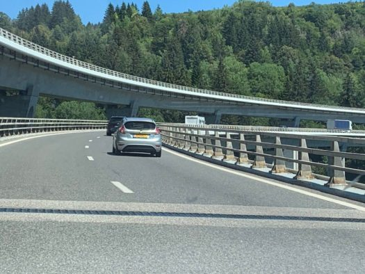 Near Nantua. The Drive to Our Summer Holiday on Covid-19 Times.