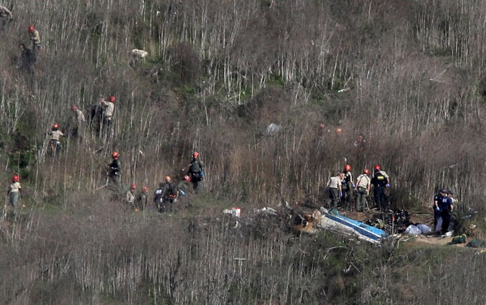 The NTSB also said the debris from the accident was `` fairly large ''