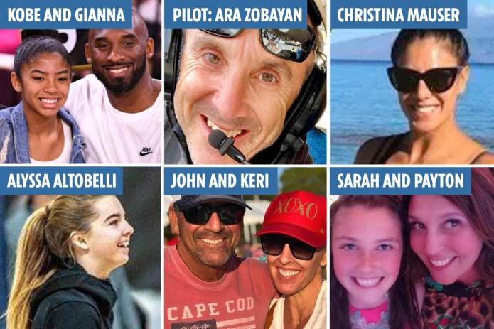 Nine victims of tragic helicopter crash that killed Kobe Bryant were photographed