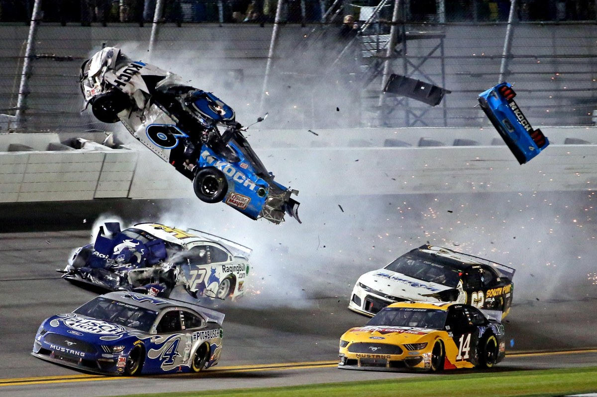 Ryan Newman has been hospitalized after a horrific crash in the Daytona 500 on Monday