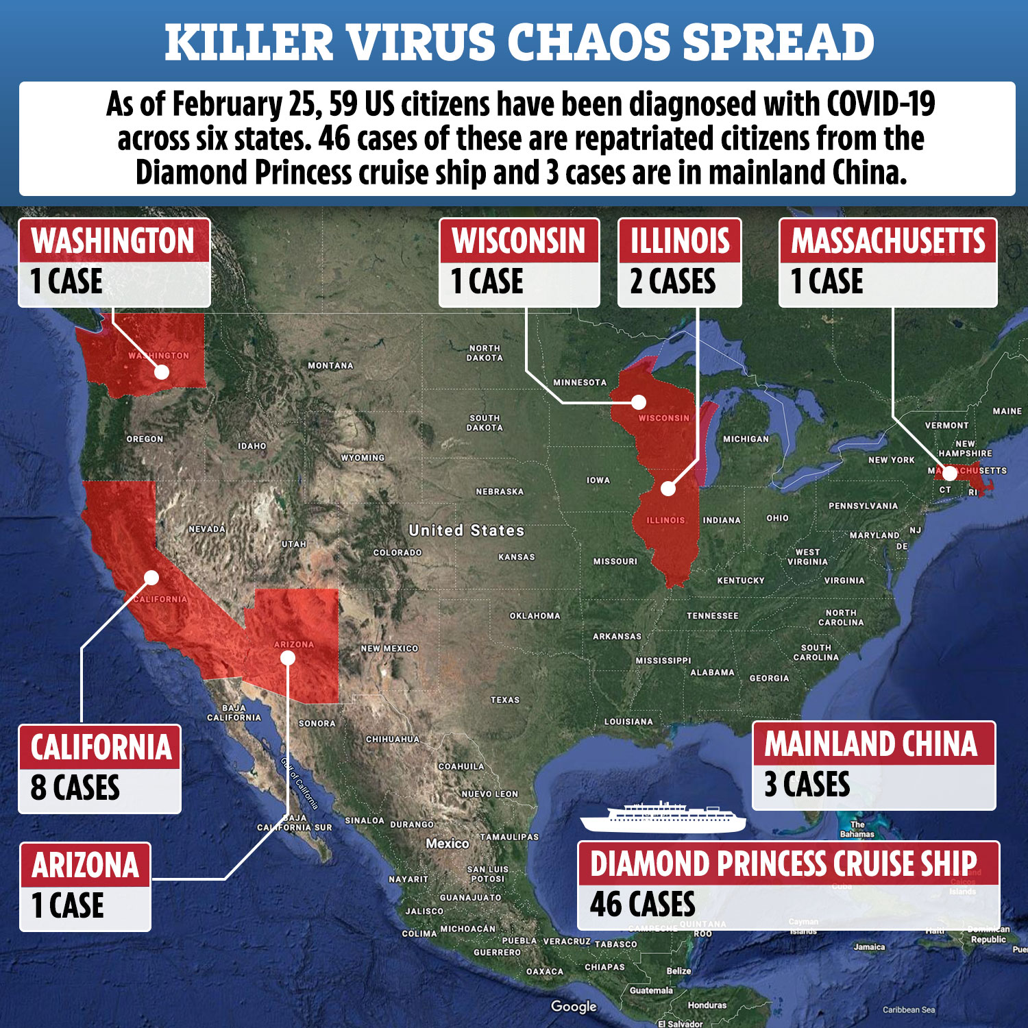 Coronavirus case in California confirmed by the CDC as the first ...