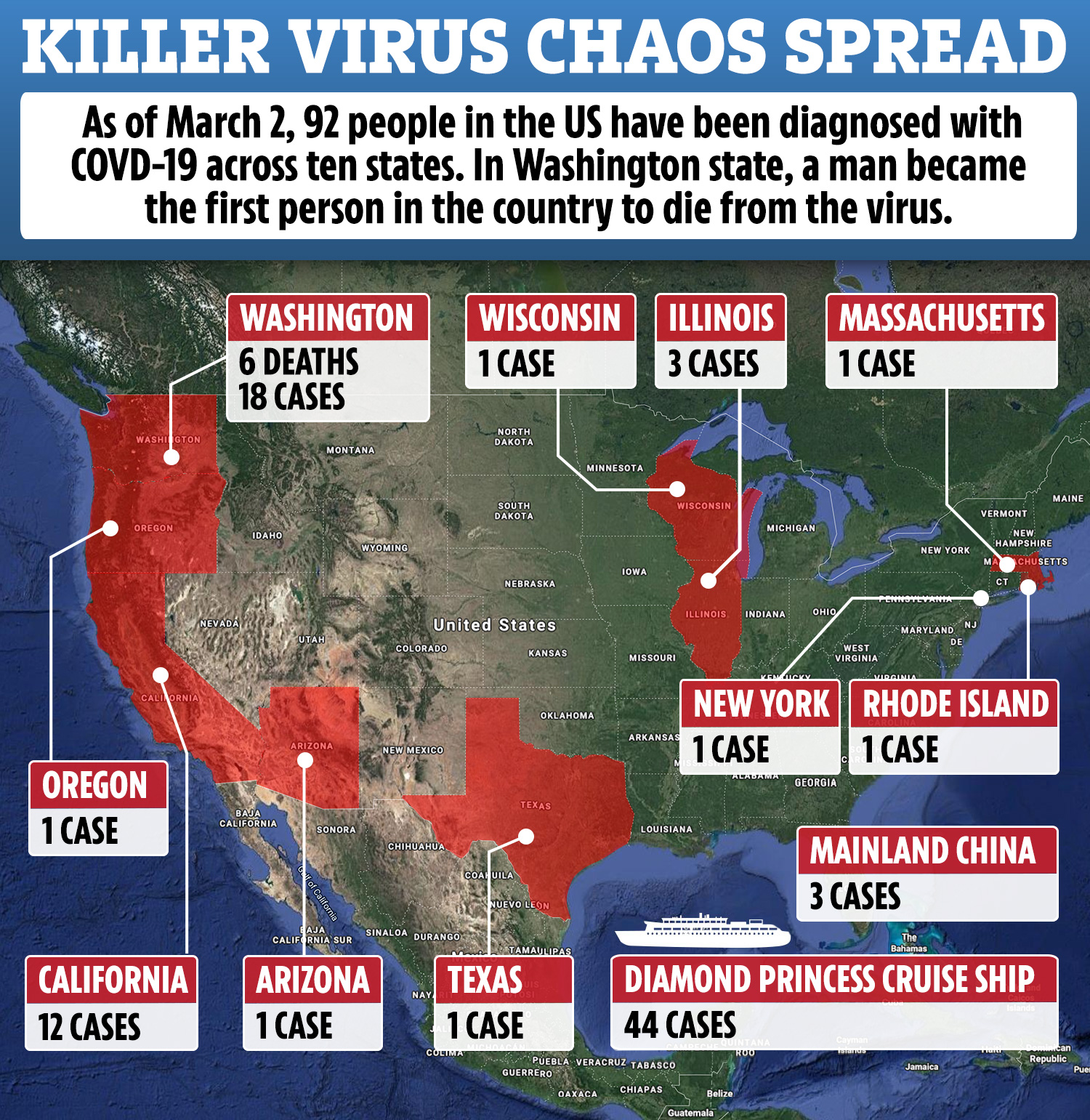 Six killed by coronavirus in Washington state as doc warns ...