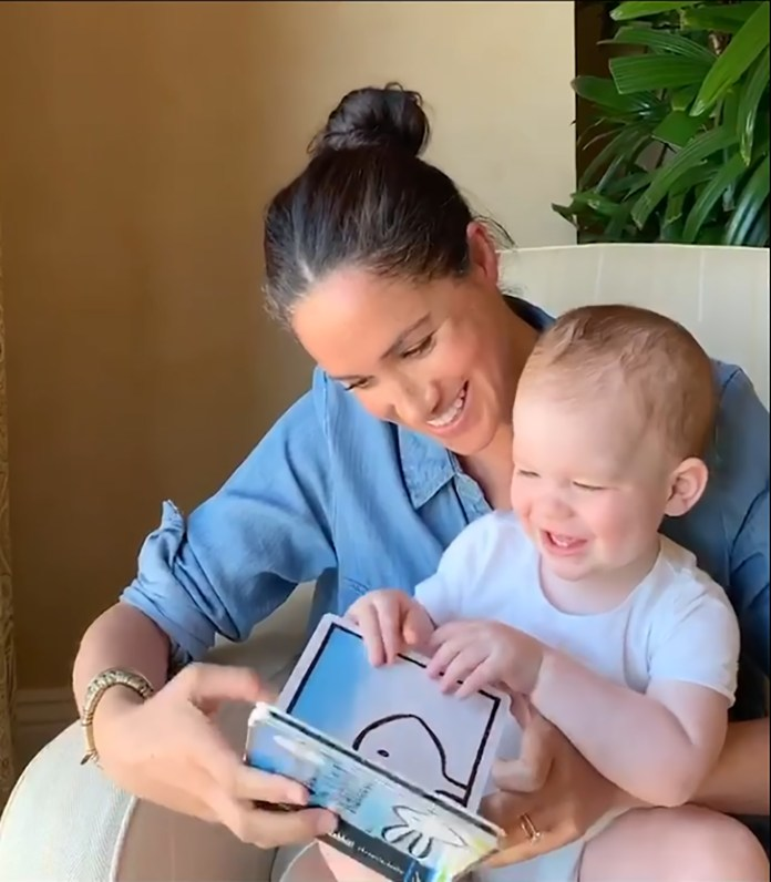 Baby Archie turned a year old last week and Meghan celebrated by uploading a sweet video of her reading