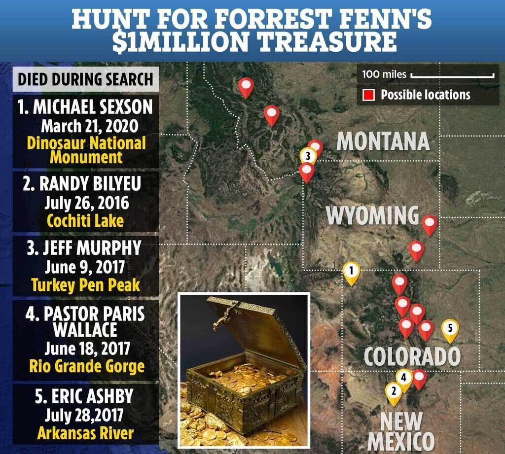 นักล่าสมบัติยังคงแสวงหารางวัล Rocky Mountain มูลค่า 2 ล้านดอลลาร์ในสัปดาห์หลังจากที่ถูก 'พบ' ก่อนที่ผู้สร้างประหลาดจะเสียชีวิต - admin » TikTokJa Video Downloader