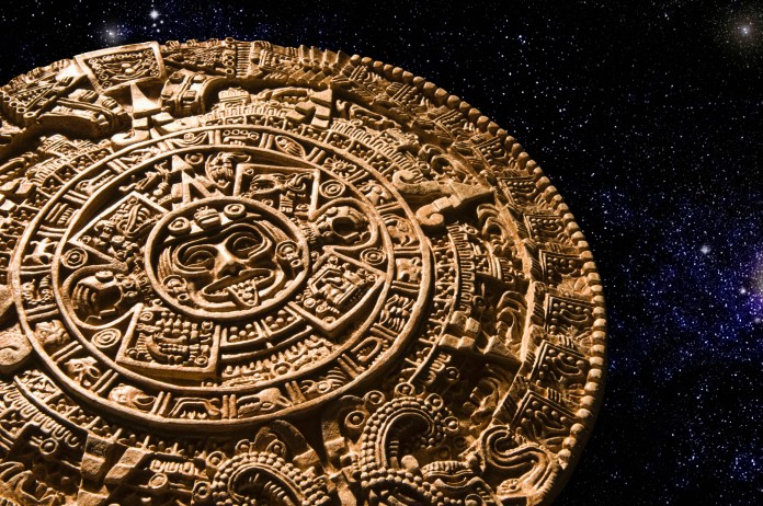 The Mayan calendar plays a part in his bonkers conspiracy