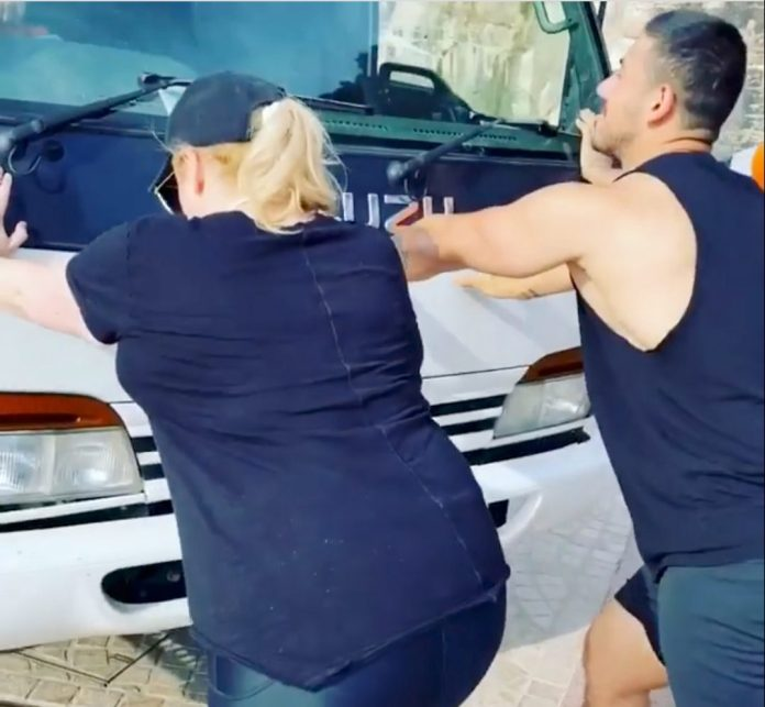 Rebel often posted workout videos with her trainer, Jono Castano