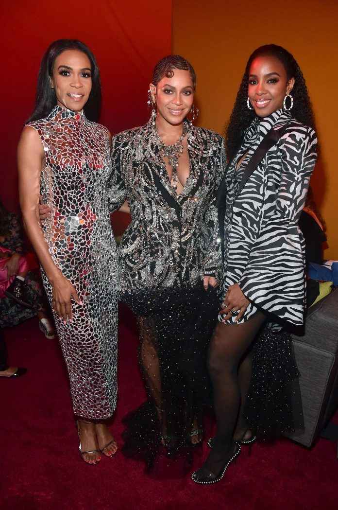 They are all still friends - Michelle Williams, Beyonce Knowles-Carter, and Kelly Rowland together in 2019