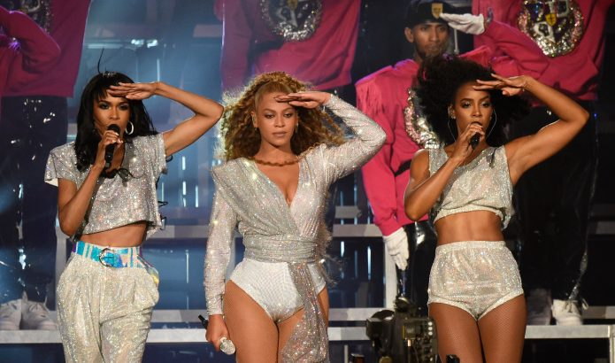 Michelle Williams, Beyonce Knowles and Kelly Rowland of Destiny's Child perform onstage during the 2018 Coachella Valley Music And Arts Festival