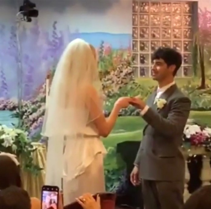 Sophie and Joe were married at a surprise ceremony in Vegas