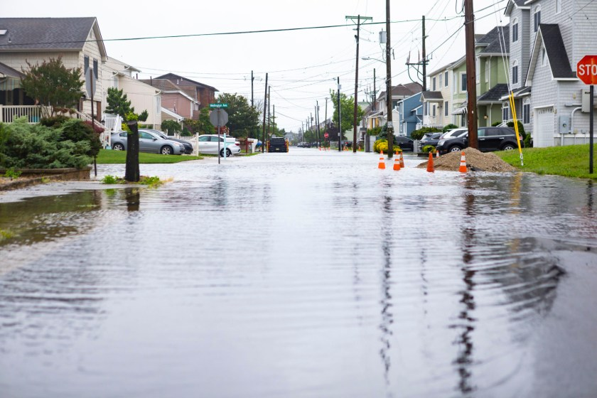Shore town beaches in New Jersey experienced high flooding