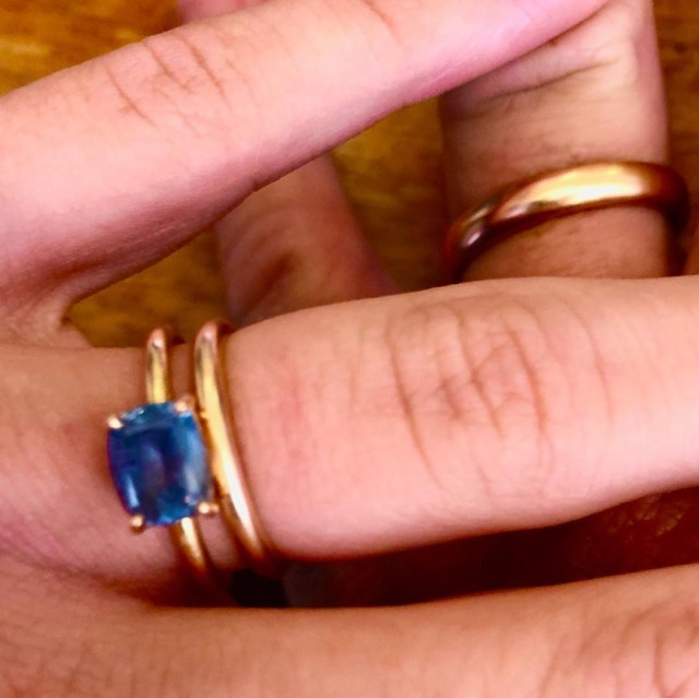 She shared what appears to be their wedding ring