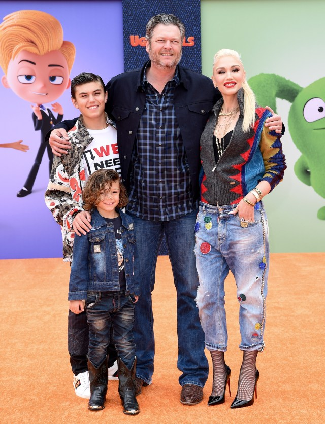 Gwen has three kids from her previous marriage