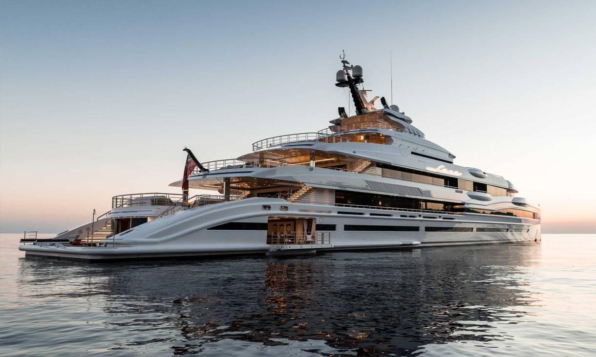 The Carters rented the new superyacht for $2million a week