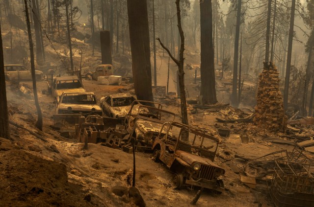 Wildifres have reduced towns to ashes on the US West Coast