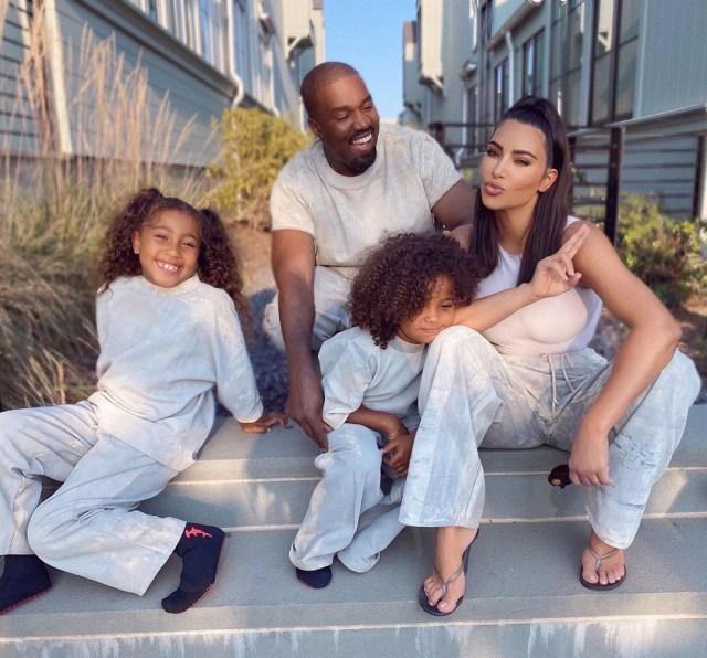 Kim shares four kids with husband Kanye West