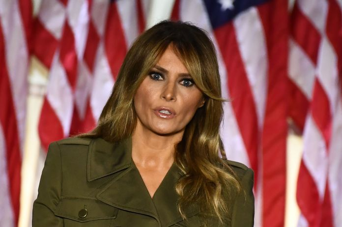 This is the first time Melania has spoken out about the bombshell