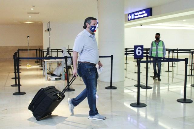 Ted Cruz returned to Texas on Thursday
