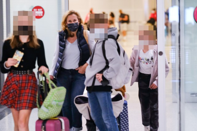 On Saturday, Heidi Cruz and her children returned to Texas after a trip to Cancun, Mexico