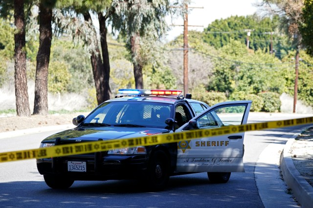 Police on the scene in the Rancho Palos Verdes section of Los Angeles