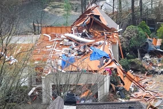 The 135mph tornado killed five people in Alabama