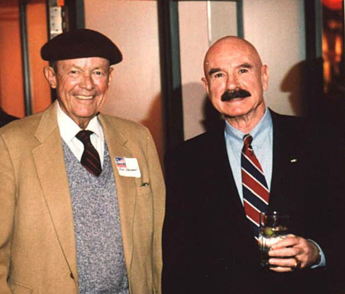 G. Gordon Liddy (right) was credited as being the mastermind behind the Watergate burglary