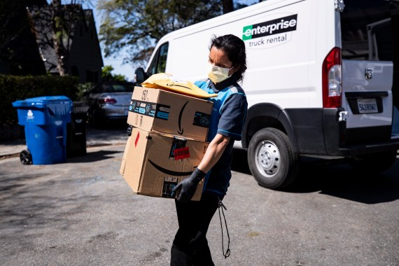 Amazon delivery drivers are expected to deliver hundreds of packages during 10-hour shifts