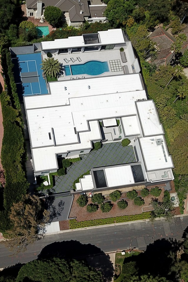 The reality star lives in a $36 million Los Angeles mansion