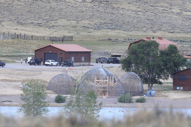 He was living at his Wyoming ranch while the episode was being filmed
