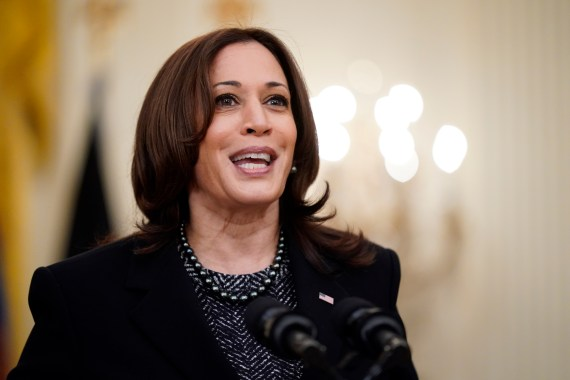 Harris has acknowledge that the migrant issues at the Texas border are a 'huge problem'