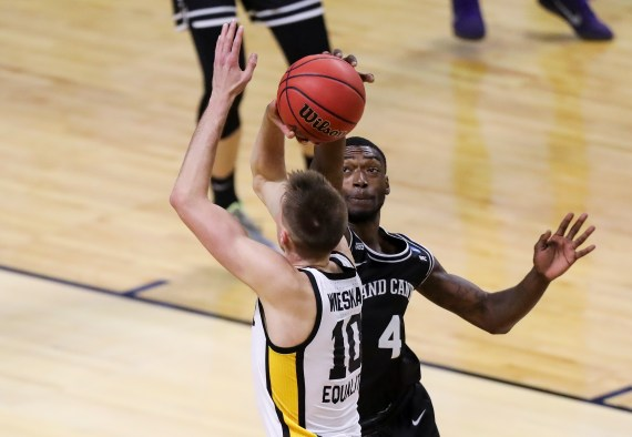 In his final game against Iowa, he gained eight points, three blocks, and a steal
