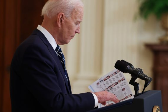 Joe Biden had a list of reporters he planned to call on during the conference