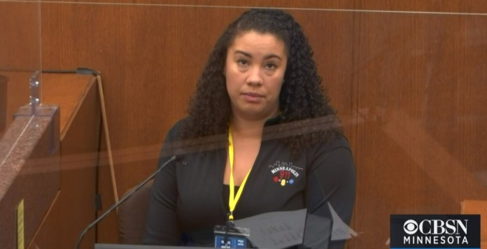 Prosecutors called the first witness, City of Minneapolis 911 dispatcher Jena Scurry